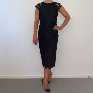 Ted Baker black lace dress.